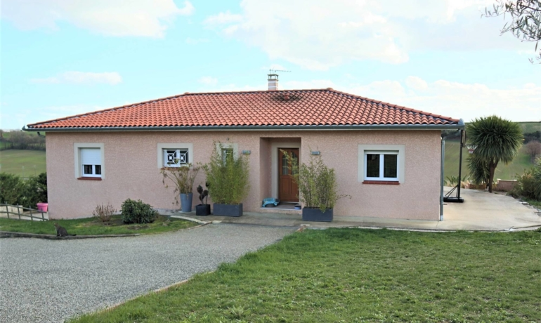 Villa moderne 5 pièces principales vue sur les Pyrénées avec piscine